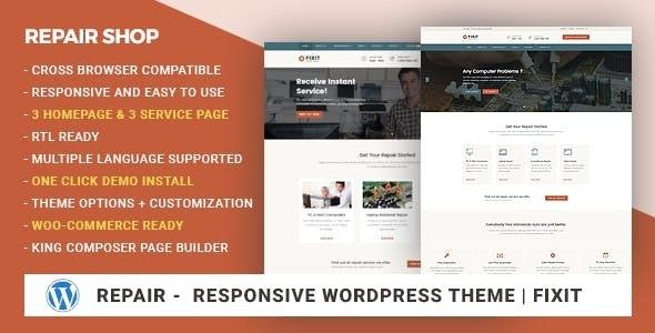 Phone, Computer Repair Shop Responsive WordPress Theme – Fixit