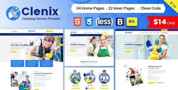 Cleanix - Cleaning Services HTML Template - Business Corporate