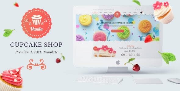 Bakery - Cakery  HTML5 Template - Food Retail