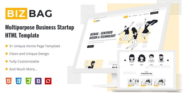 BizBag - Multipurpose Business Startup HTML Template - Corporate Site Templates