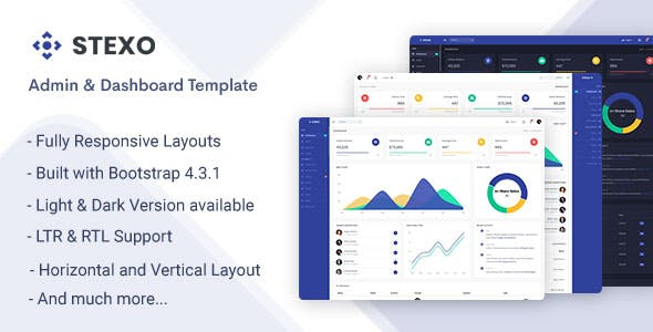Stexo - Admin & Dashboard Template nulled theme download