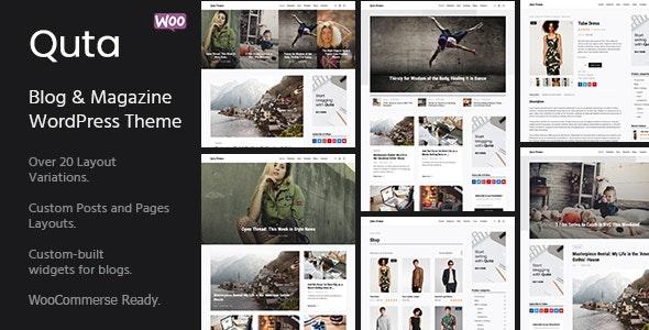 Quta - A WordPress Blog & Shop Theme - Personal Blog / Magazine