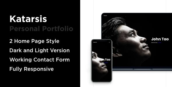 Katarsis - One Page Portfolio Bootstrap 4 nulled theme download