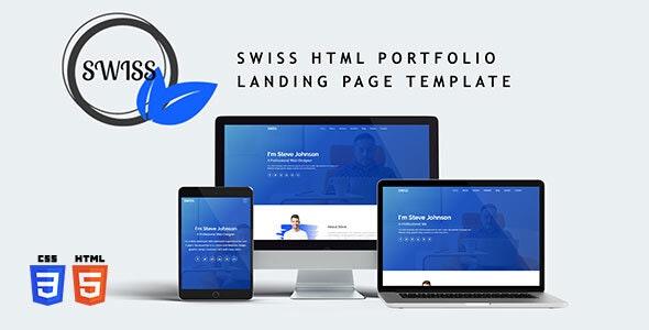 SWISS HTML Portfolio Landing Page Template - Portfolio Creative