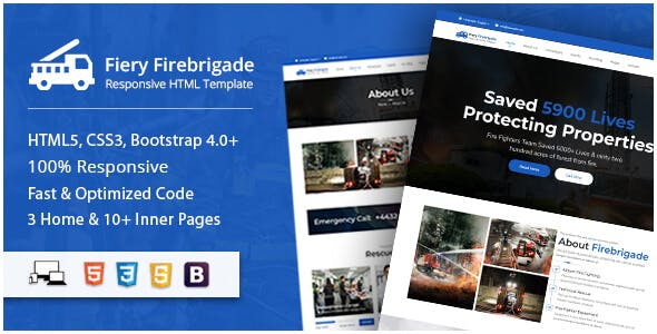 Fiery - Fire Brigade Responsive HTML Template nulled theme download