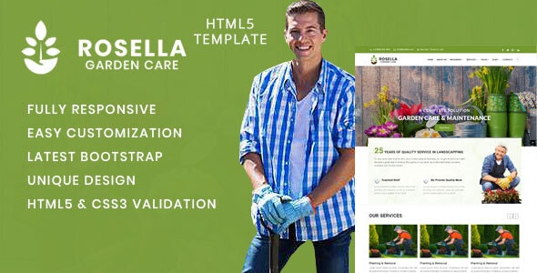 Rosella - Garden and Landscape Company HTML Template - Site Templates