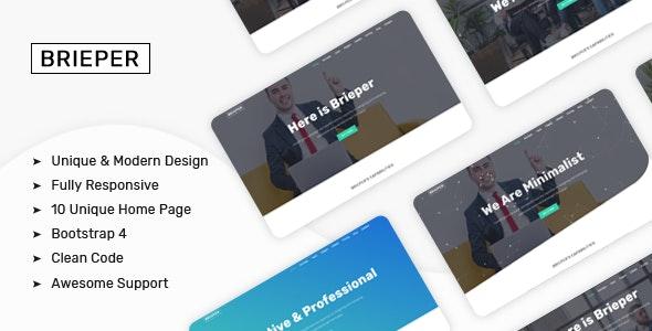 Brieper - A Responsive Bootstrap4 HTML Tepmplate - Creative Site Templates