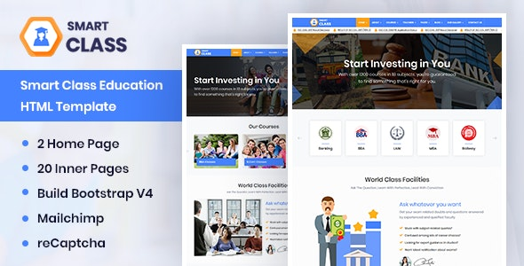 SmartClass | Education Agency Choching & Tuition HTML Template - Site Templates