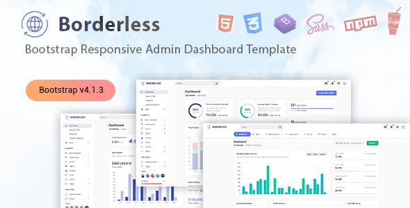 Borderless - Responsive Admin Dashboard Template nulled theme download