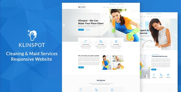 Klinspot – Cleaning Company Responsive Website - Business Corporate