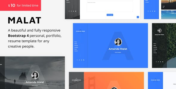 Malat - Responsive Personal / Portfolio / Resume Template nulled theme download