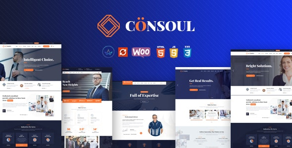 Consoul - Consulting Business WordPress Theme - Business Corporate