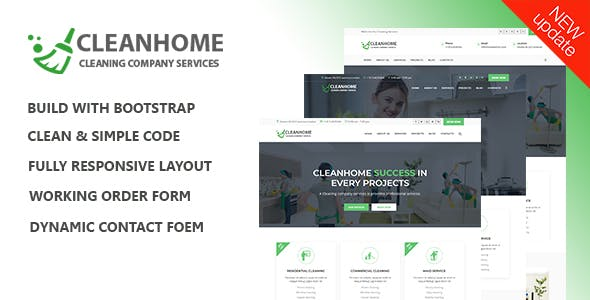 Cleanhome – Cleaning Services HTML Template