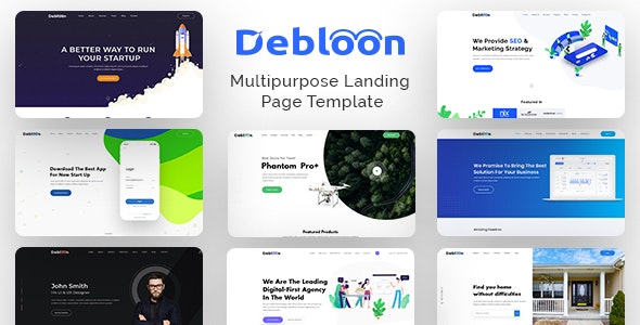 Debloon - Multipurpose Landing Page PSD Template - Business Corporate