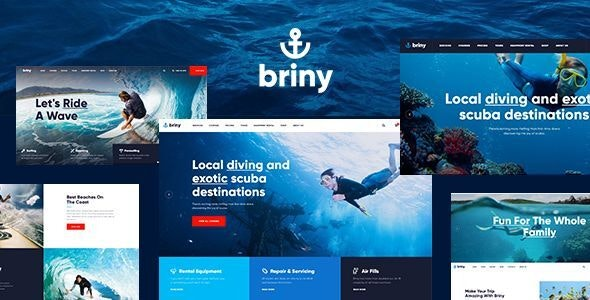 Briny | Scuba Diving School & Water Sports WordPress Theme - Travel Retail