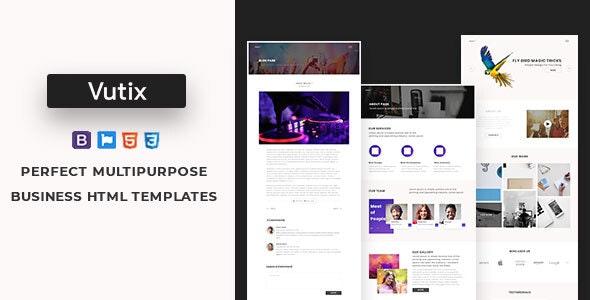 Vutix -The Powerful Multi-Purpose HTML5 Template. - Corporate Site Templates