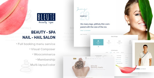 Bleute - WordPress theme Beauty Spa - WooCommerce eCommerce