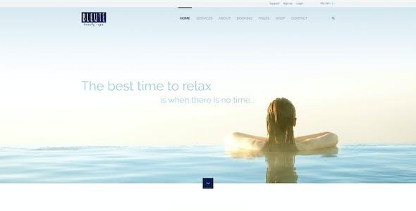 Bleute - WordPress theme Beauty Spa