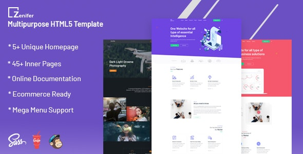 Zenifer - Creative and Multipurpose Responsive HTML5 Template - Portfolio Creative