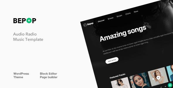 Bepop - Non-stop Music WordPress Theme nulled theme download