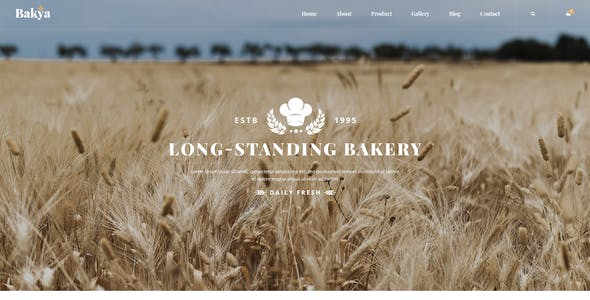 Bakya - Cake and Bakery Food Store Psd Template Theme