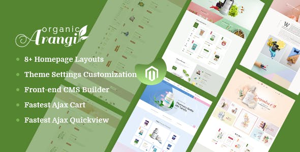 Arangi - Organic & Healthy Products Magento 2 Theme nulled theme download
