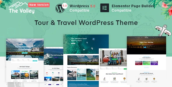 Valley - Tour & Travel Agency WordPress Theme by ThemeXpert