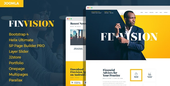 Finwiz - Financial and Auditing Services Business Joomla Template - Business Corporate