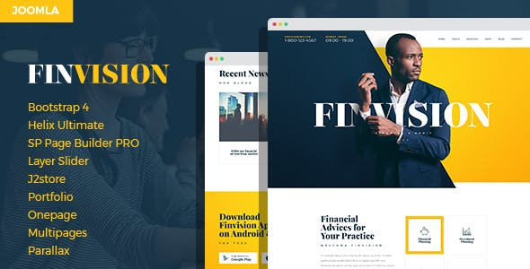 Finwiz - Financial and Auditing Services Business Joomla Template