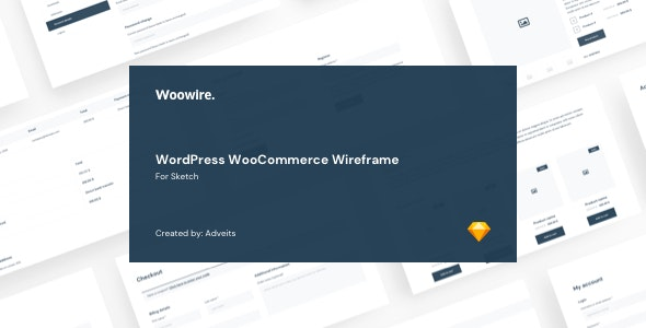 Woowire - WordPress WooCommerce Wireframe for Sketch - Sketch Templates