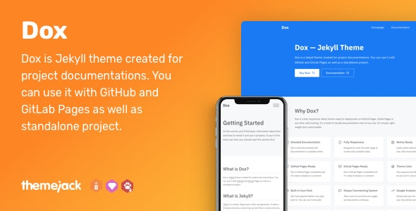Dox — Jekyll Theme for Project Documentation - Jekyll Static Site Generators