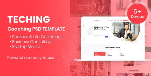 Teching | Coaching PSD Template - Business Corporate