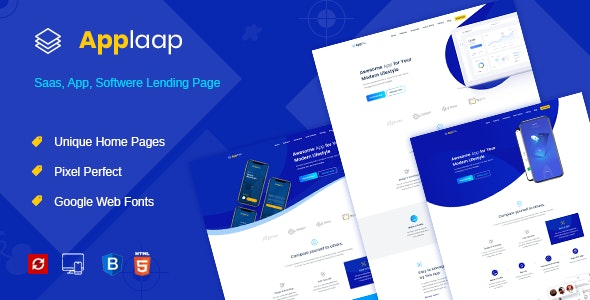 AppLaap | App Landing HTML Template - Technology Site Templates