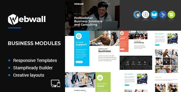 Webwall - Business Responsive Email Template + StampReady & CampaignMonitor compatible files nulled theme download