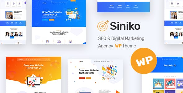 Siniko - Marketing Agency WordPress Theme