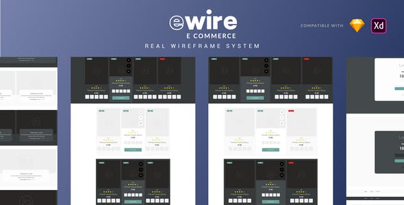 Ewire for Commerce -  Wireframe Library Collection