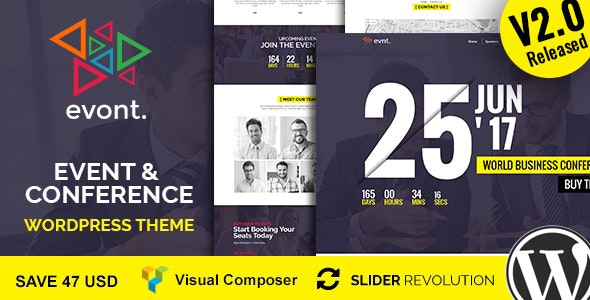 Evont - Event And Conference WordPress Theme - Events Entertainment