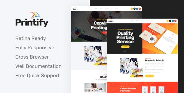 Printify - Attention Grabbing Printing Company HTML Template - Business Corporate