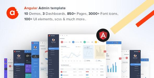 AdminBite Powerful Angular 8 Dashboard Template by MARUTI