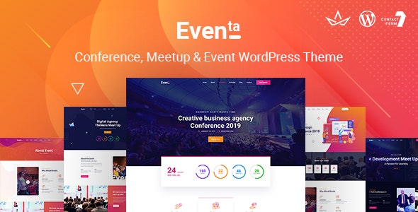 Eventa | Event Conference WordPress Theme - Events Entertainment