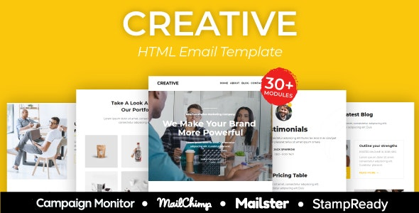 Creative Agency - Multipurpose Responsive Email Template 30+ Modules - Mailster & Mailchimp - Newsletters Email Templates