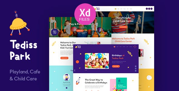 Tediss | Play Area & Child Care Center XD Template nulled theme download