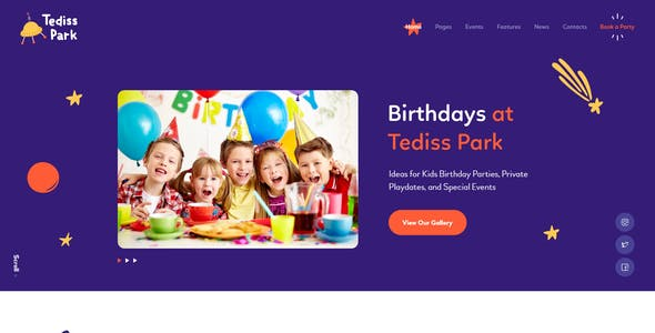 Tediss   Play Area & Child Care Center XD Template