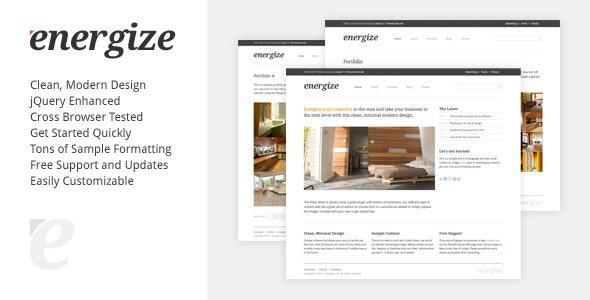 Energize - Clean Creative Portfolio - Portfolio Creative