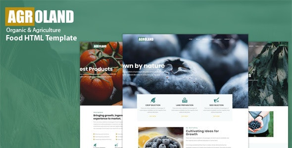 Agroland - Agriculture & Organic Food HTML Template - Food Retail