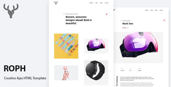 Roph - Creative Ajax Portfolio Bootstrap Template - Portfolio Creative