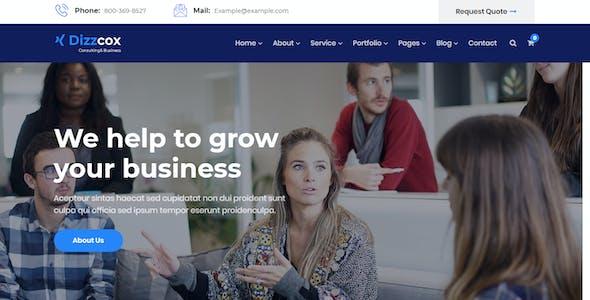 Dizzcox - Consulting Business WordPress Theme