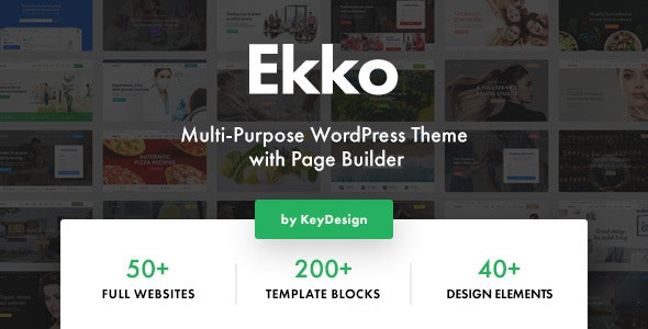 Ekko - Multi-Purpose WordPress Theme with Page Builder by