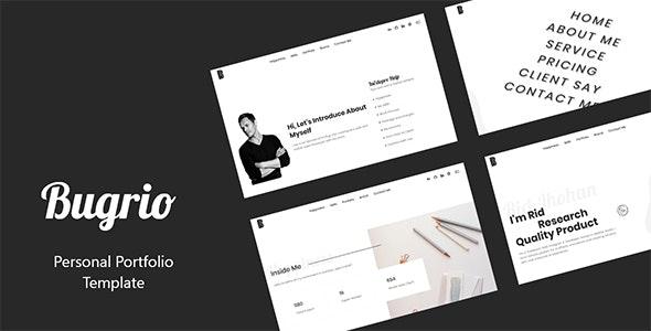Bugrio - Creative Personal Portfolio Template - Creative Site Templates