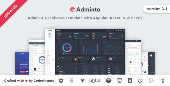 Adminto - Admin Dashboard Template - Admin Templates Site Templates